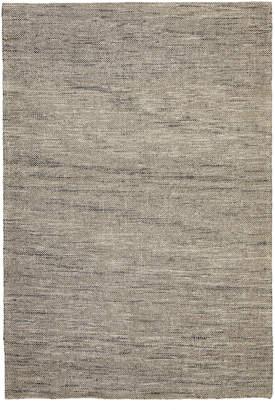Scandinavian Network Elias Style Wool and Jute Natural Rug