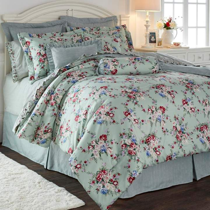 Cottage Collection Floral Printed 100% Cotton 9-piece Comforter Set