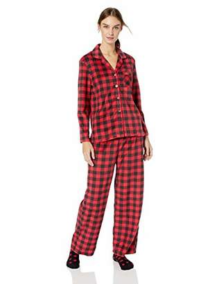 Karen Neuburger Women's Long Sleeve Minky Fleece Pajama Set PJ,L