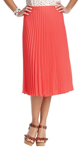 LOFT Pleated Mid Length Skirt