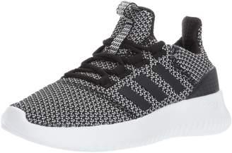 adidas Kid's Cloudfoam Ultimate Running Shoes, Core Black/Core Black/Silver Metallic