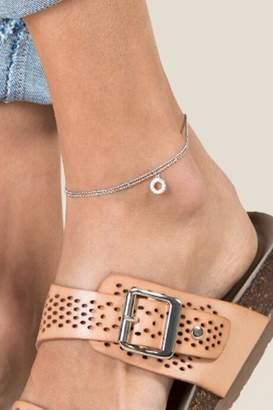 francesca's Asa Silver Circle Anklet - Silver