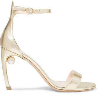 Nicholas Kirkwood Mira Metallic Leather Sandals - Gold