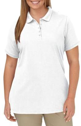 Dickies Women's Plus Size Solid Pique Polo