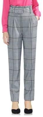 Vince Camuto Plaid Paper Bag Pants