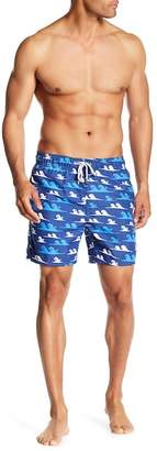 The Endless Summer Wave Print Swim Trunks