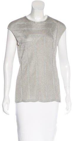 Ralph Lauren Glitter Knit Sleeveless Top