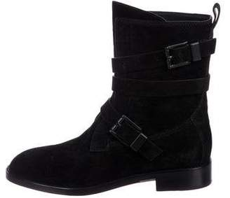 Alexander Wang Suede Round-Toe Boots