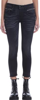 R 13 Stardust Black Stretch Cotton Skinny Fit Jeans