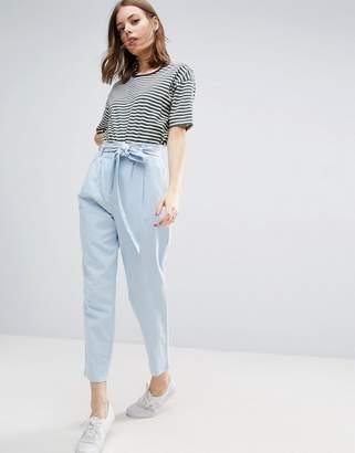 ASOS Tie Waist Linen Peg Pants $48 thestylecure.com