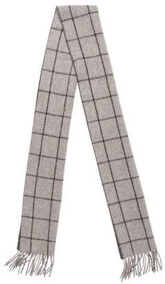 Ralph Lauren Patterned Wool Blend Scarf