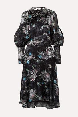 Preen by Thornton Bregazzi Jemima Floral-print Devoré-satin Dress - Black