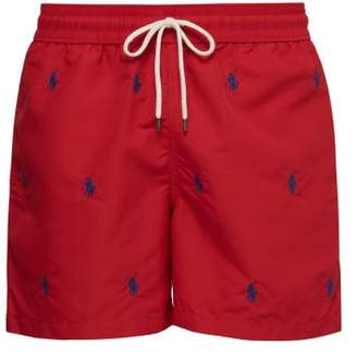 f0c31baad6 Polo Ralph Lauren Logo Embroidered Swim Shorts - Mens - Red