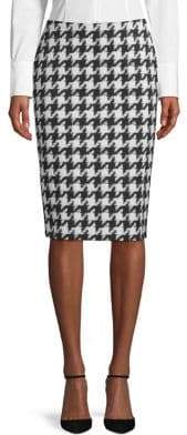 HUGO Riami Houndstooth Pencil Skirt