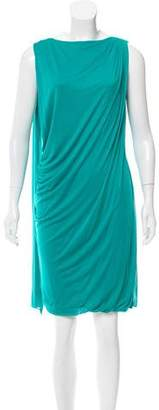 Versace Draped Sleeveless Dress
