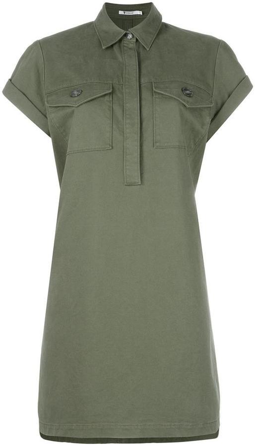 Alexander WangT By Alexander Wang military shirt dress