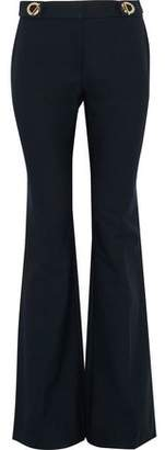 Derek Lam 10 Crosby Eyelet-Embellished Cotton-Blend Twill Bootcut Pants