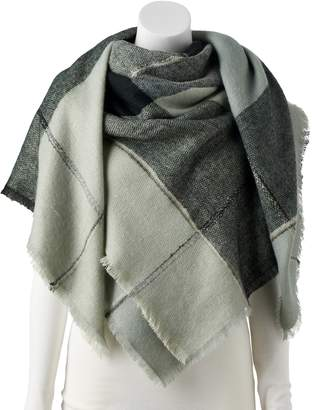Lauren Conrad Women's Winter Plaid Blanket Scarf