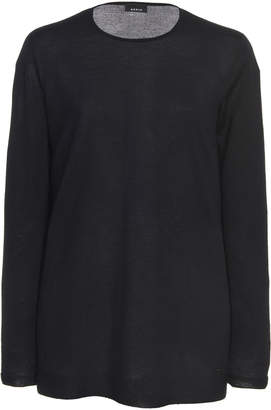 Akris Cashmere Silk Blend Long Sleeve Seamless Tunic