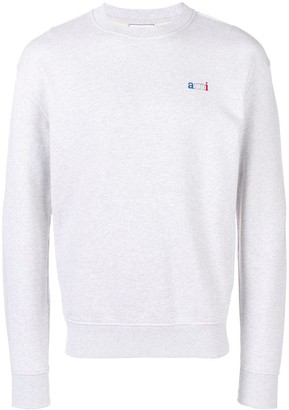 Ami Paris Sweatshirt With Embroidery