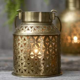 London Garden Trading Brass Churn Tealight Holder