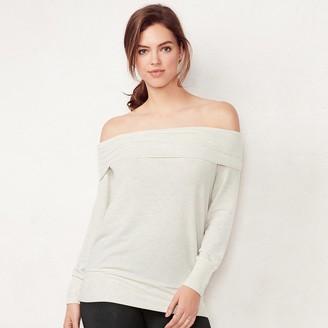 Lauren Conrad Women's Off-the-Shoulder Sweatshirt