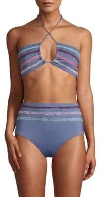Dolce Vita Textured Crochet Bikini Top