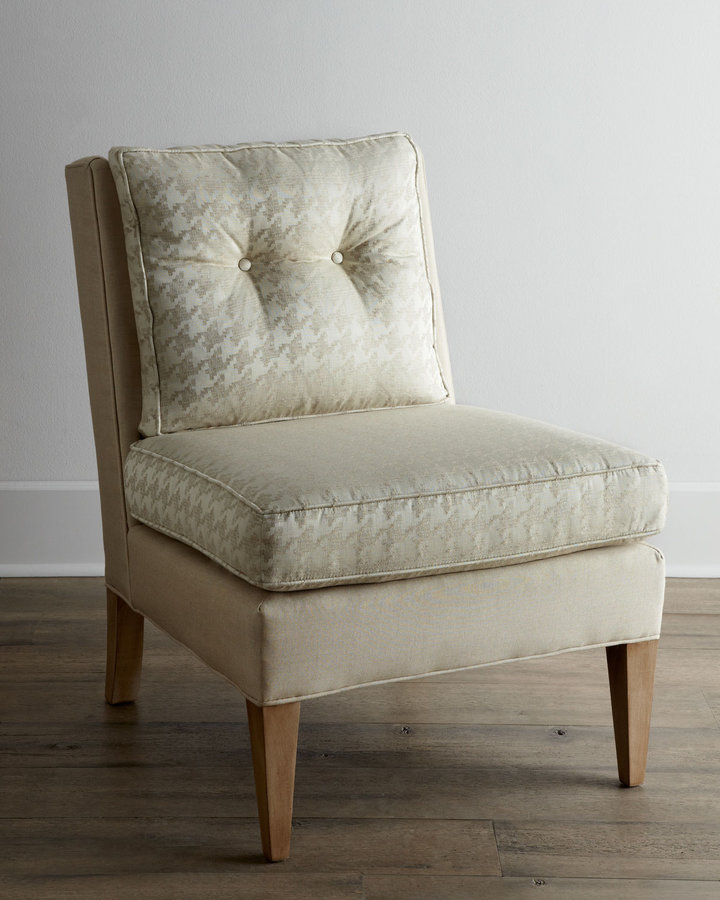 """Horchow """"Piper"""" Armless Chair"""