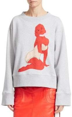 Moschino Cotton Pin-Up Sweatshirt