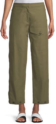Rag & Bone Marion Snap-Side Straight-Leg Pants