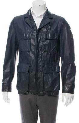 Belstaff Leather Utility Jacket