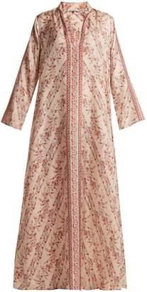 Mes Demoiselles Bobo floral-print silk dress