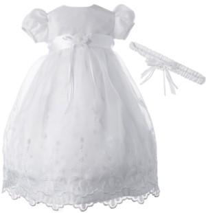 Lauren Madison Baby Girls 2-Pc. Christening Dress & Headband Set