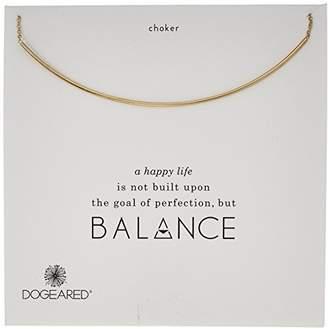 Dogeared Balance Delicate Bar Choker Dipped Choker Necklace