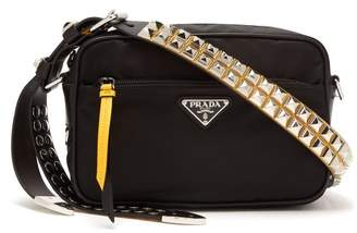 Prada - Stud Embellished Strap Nylon Cross Body Bag - Womens - Black Multi