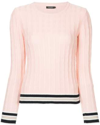 Loveless cable-knit jumper