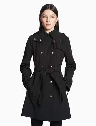 Calvin Klein soft shell double breasted trench coat