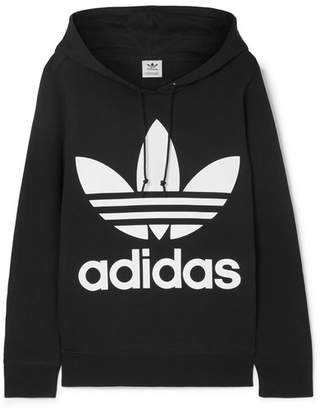 adidas Trefoil Printed Cotton-jersey Hoodie