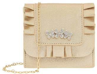 Monsoon Girls Gold Maria Butterfly Frill Bag - Gold