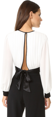alice + olivia Dakota Pleated Tie Waist Blouse $330 thestylecure.com