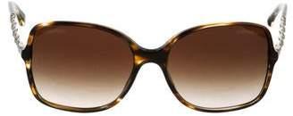 Chanel Chain-Link Square Sunglasses
