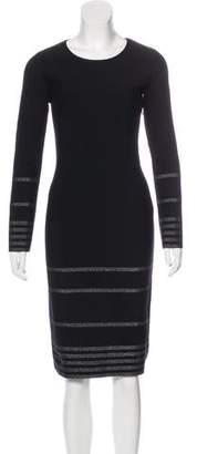 Saint Laurent Long Sleeve Sheath Dress