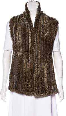 Marc by Marc Jacobs Rabbit Fur Vest