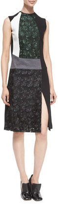 Derek Lam Mixed-Media Sleeveless Lace Dress $1,890 thestylecure.com
