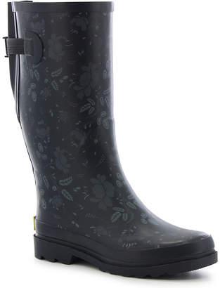 Western Chief Womens Dot City Rain Boots Waterproof Flat Heel Pull-on