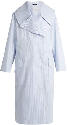 Maison Margiela Double-breasted striped coat