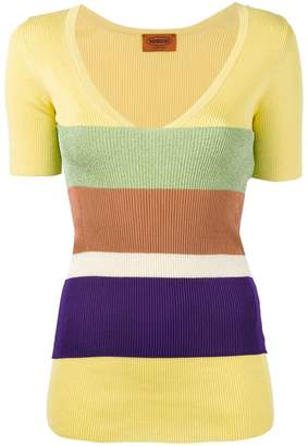 Missoni striped V-neck sweater