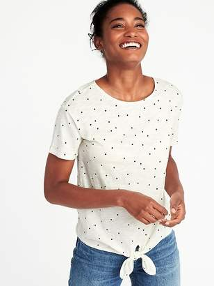 Old Navy Relaxed Tie-Front Jersey Top for Women