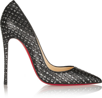 Christian Louboutin So Kate 120 cutout leather and tweed pumps $775 thestylecure.com