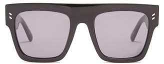 Stella McCartney Flat Top D Frame Sunglasses - Womens - Black